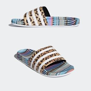 0a5cbffa44e8 adidas Shoes - Adidas x The Farm Adilette Multi Color Slides